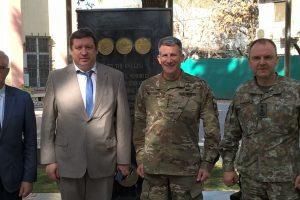 Krašto apsaugos ministras Afganistane aplankė Lietuvos karius