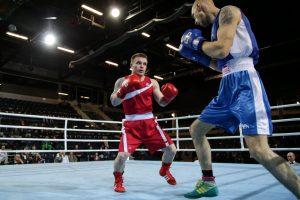 E. Petrauskas ir V. Stapulionis pateko į Lietuvos bokso čempionato pusfinalius