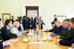 D. Grybauskaitė: Vokietija padeda užtikrinti regiono saugumą
