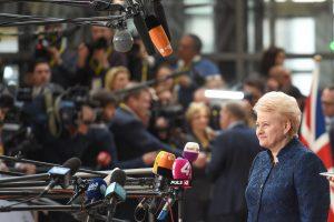 D. Grybauskaitė ragina nekeisti ES sutarčių