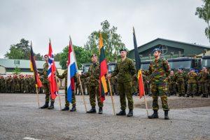 Lietuvoje tarnybą baigė pirmoji NATO priešakinių pajėgų pamaina