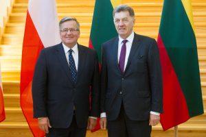 Premjeras: turime ir toliau stiprinti partnerystę su Lenkija