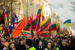 Nacionalistinės eitynės šiemet sutraukė mažiau dalyvių
