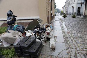 Miesto centre – statybinės atliekos