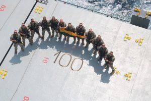 Kariai, tarnaujantys tarptautinėse operacijose, minėjo valstybės 100-metį