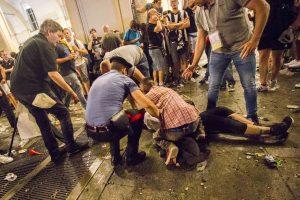 Panika dėl bombos Italijoje: per spūstį sužeista daugiau nei 1500 žmonių