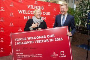 Šiemet Vilniuje nusileido milijonasis lankytojas