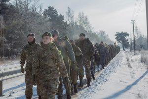 Danijos, Lietuvos ir NATO sąjungininkų kariai dalyvavo 25 km žygyje