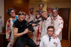 """""""Rezidentų"""" aktoriai pademonstravo šiurpinantį įvaizdį – virto zombiais"""