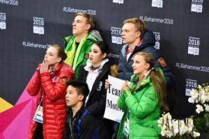 Lietuvos čiuožėjai – greta garbės pakylos