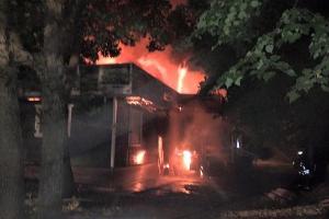 Palangos centre visiškai sudegė kavinė