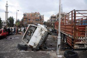 Per sprogimus Damasko senamiestyje žuvo dešimtys maldininkų