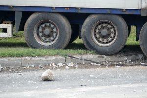 Sunkvežimio partrenktas pėsčiasis neišgyveno