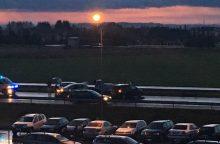 Autostradoje ryte 7 avarijose susidūrė 12 automobilių