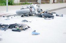 Per avariją sostinėje žuvo motociklininkas