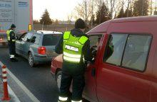 Reido laimikis: įkliuvo girti krovininių mašinų vairuotojai