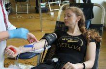 """Ansamblyje """"Lietuva"""" – kraujo donorystės diena"""