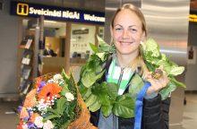 Dviratininkė S. Krupeckaitė norėjo dviejų medalių, o parsivežė tris