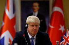 B. Johnsonas liaupsino savo turkiškos skalbyklės privalumus