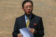 Kaltinimais pasipiktinusi Malaizija iškvietė Šiaurės Korėjos ambasadorių