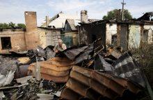 Ukrainos šaudmenų sandėlyje tęsiasi pavieniai sprogimai