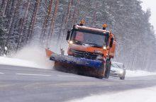 Klaipėdos apskrityje keliai padengti prispaustu sniegu