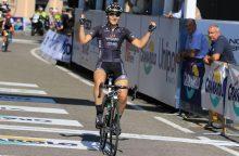 Pasaulio reitinge dviratininkė R. Leleivytė šoktelėjo į 66-ą vietą