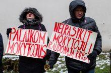 Prasidėjo penkta mokytojų streiko savaitė: pamokų neves apie 1110 mokytojų