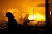 Mažeikiuose kilo didelis gaisras – užsidegė du dujovežiai
