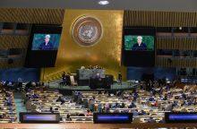 Prieš D. Grybauskaitės kalbą Rusijos delegacija paliko salę