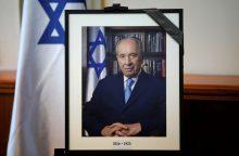 Lietuva atiduoda pagarbą velioniui Izraelio prezidentui Sh.Peresui