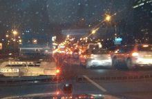 Vilniuje – masinė avarija: susikūlė net septynios mašinos