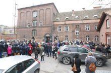 Prie senojo policijos pastato – protestas už kuriantį miestą
