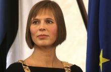 Į Lietuvą atvyksta naujoji Estijos prezidentė