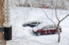 Šiąnakt užfiksuoti rekordiniai šios žiemos šalčiai