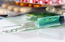 Ministerija: priemokos už vaistus sumažėjo daugiau kaip 20 procentų