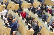 Gedimas Seimo salėje sutrikdė parlamento posėdį
