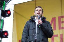 A. Tapinas nusivylęs: protestas įtakos politikams nepadarė