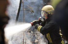 Didelis gaisras Raseiniuose: užsiliepsnojo lentpjūvė