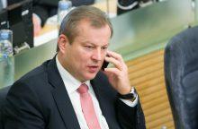 M. Basčio apkaltos komisija laikinai stabdo veiklą