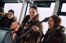 Staigmena vilniečiams – gyva muzika viešajame transporte