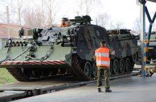 Į Lietuvą atgabenama Vokietijos bataliono karių technika