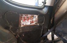 Baltarusio automobilyje – cigarečių slėptuvės