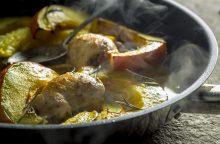 Savaitgalio pietums – vištienos suktinukai su moliūgu ir prancūziškas desertas
