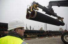 """""""Gazprom"""" pradeda tiesti """"Nord Stream 2"""" dujomis aprūpinsiantį vamzdyną"""