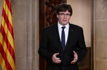 Madrido nušalintas buvęs Katalonijos lyderis prisistatė Belgijos teismui