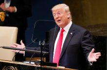 D. Trumpo kalba išryškino takoskyrą tarp jo ir likusio pasaulio