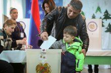Armėnijos premjeras prognozuoja savo partijos pergalę, sako, kad koalicijos nereikės