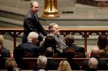 G. H. W. Bushas po žmonos laidotuvių paguldytas į ligoninę