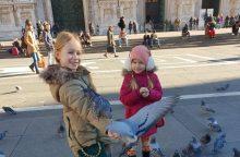 Badas negresia: balandžiai drovumu nepasižymi, tačiau turistai laimingi